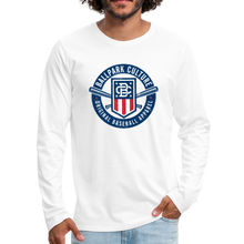 Load image into Gallery viewer, Mens American Crest L/S Tee - white