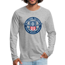Load image into Gallery viewer, Mens American Crest L/S Tee - heather gray