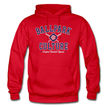 Load image into Gallery viewer, Mens BC Crossed Bats Hoodie - red