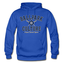 Load image into Gallery viewer, Big Mens BC Crossed Bats Hoodie - royal blue