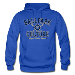 Big Mens BC Crossed Bats Hoodie - royal blue