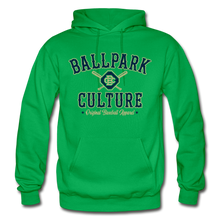 Load image into Gallery viewer, Big Mens BC Crossed Bats Hoodie - kelly green