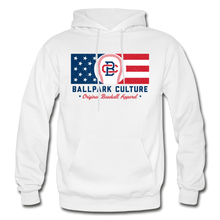 Load image into Gallery viewer, Mens BC Flag Hoodie - white