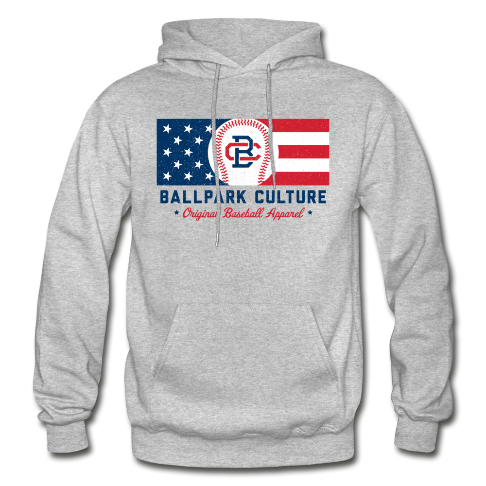 Mens BC Flag Hoodie - heather gray