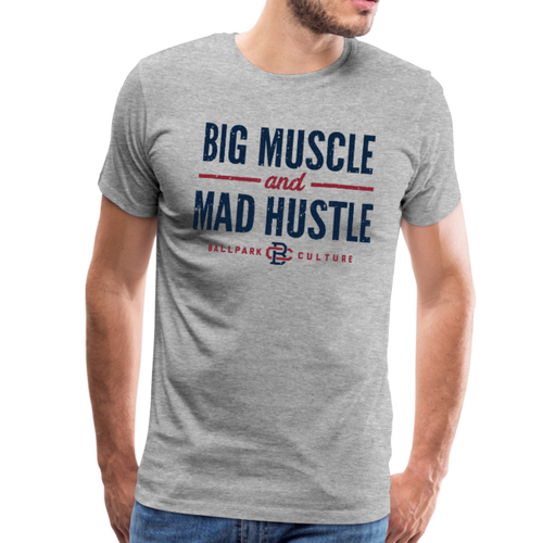 Mens Big Muscle - heather gray