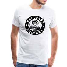 Load image into Gallery viewer, Mens BC Black Circle Logo - white