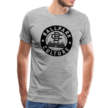 Load image into Gallery viewer, Mens BC Black Circle Logo - heather gray