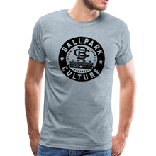 Load image into Gallery viewer, Mens BC Black Circle Logo - heather ice blue