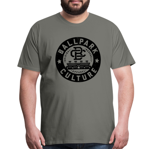 Big Mens BC Black Circle Logo - asphalt gray