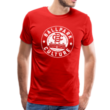 Load image into Gallery viewer, Mens BC White Circle Logo - red