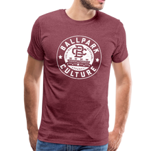 Load image into Gallery viewer, Mens BC White Circle Logo - heather burgundy
