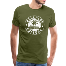 Load image into Gallery viewer, Mens BC White Circle Logo - olive green