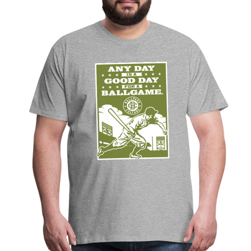 Big Mens Good Day Ballgame - heather gray