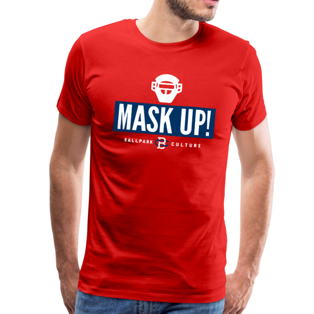 Mens Mask Up! Philadelphia - red