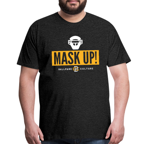 Big Mens Mask Up! Pittsburgh - charcoal gray