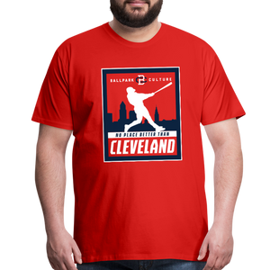 Big Mens No Place Better Cleveland - red