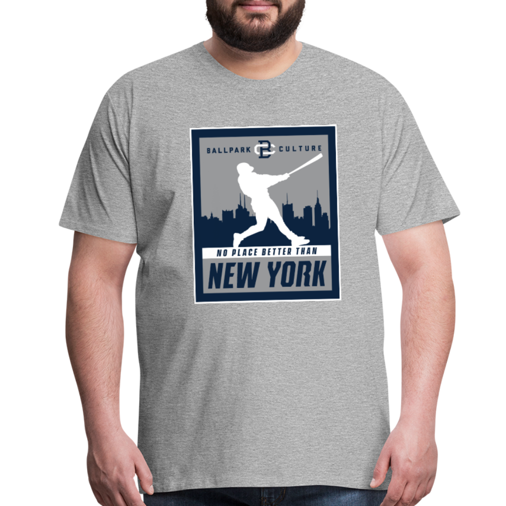 Big Mens No Place Better New York 2 - heather gray