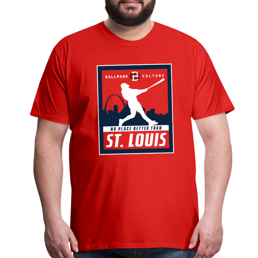 Big Mens No Place Better St. Louis - red