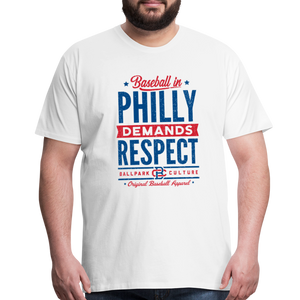 Big Mens Philadelphia Demands - white