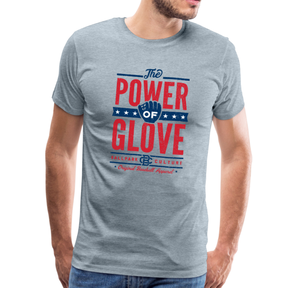 Mens Power of Glove - heather ice blue