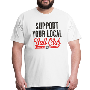 Big Mens Support Your Local - white