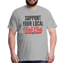 Load image into Gallery viewer, Big Mens Support Your Local - heather gray