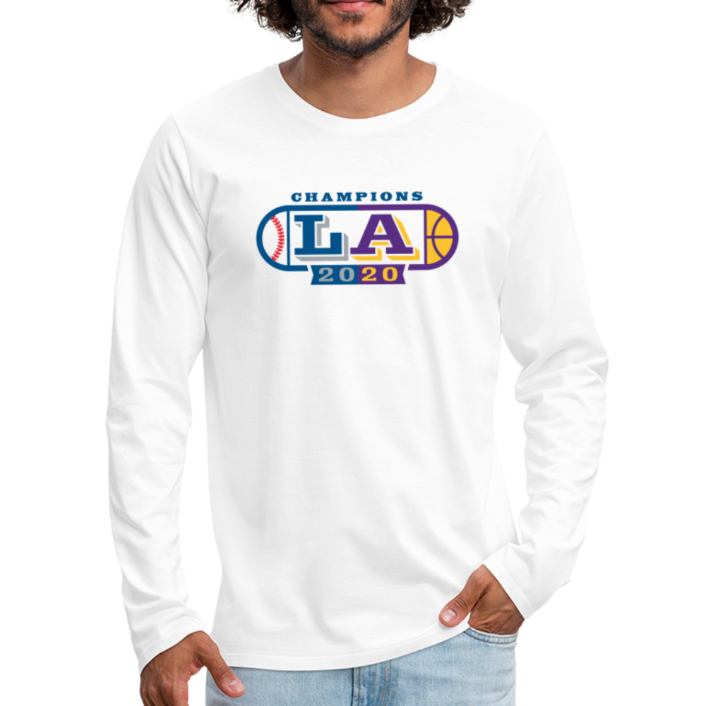 Mens LA Oval 2020 Champion L/S Tee - white