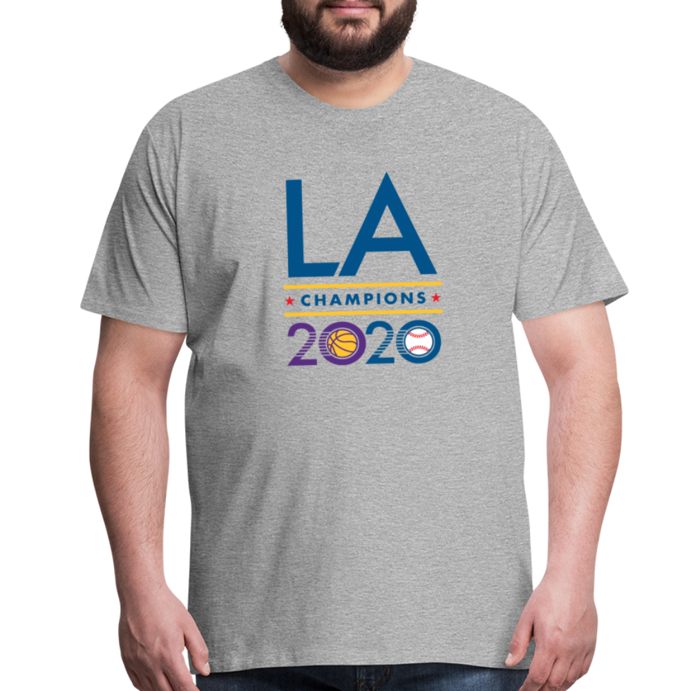 Big Mens LA 2020 Champions H Gray Tee - heather gray