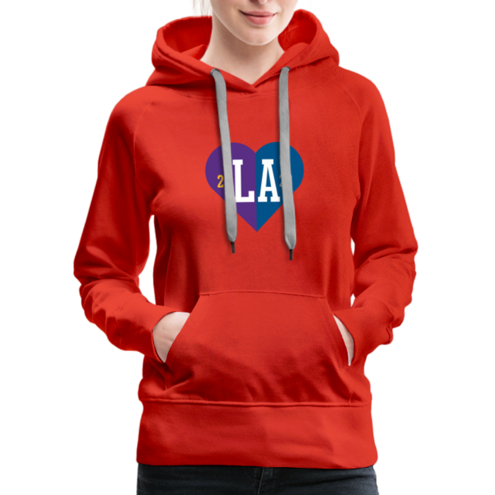 Ladies LA Heart Champions 2020 Hoodie - red