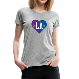 Ladies LA Heart Champions 2020 Tee - heather gray