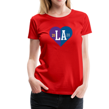 Load image into Gallery viewer, Ladies LA Heart Champions 2020 Tee - red