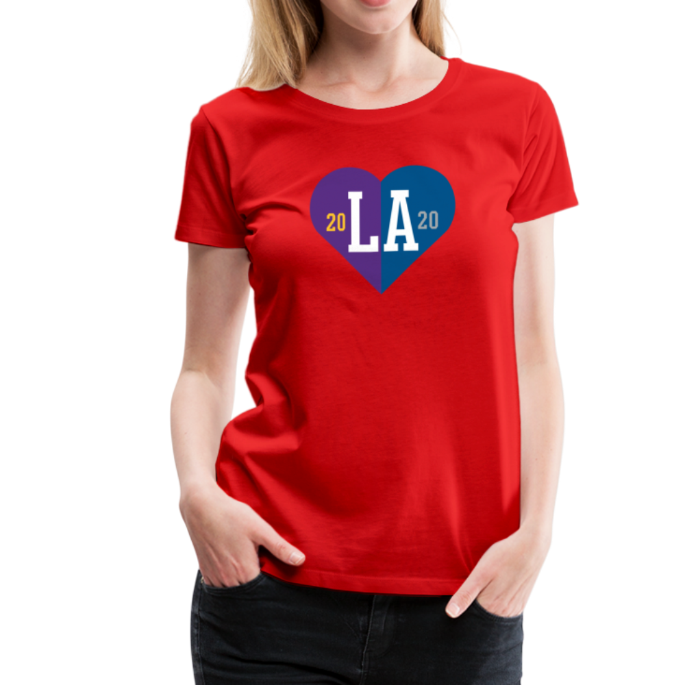 Ladies LA Heart Champions 2020 Tee - red