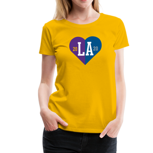 Ladies LA Heart Champions 2020 Yellow Tee - sun yellow