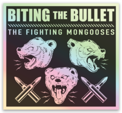 Fighting Mongooses Holographic Sticker
