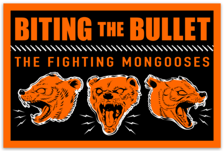 Fighting Mongooses Sticker