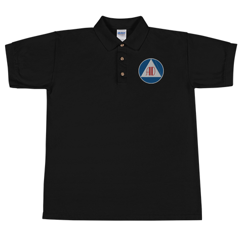 Anarchy Defense Embroidered Polo Shirt