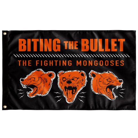 Fighting Mongooses Single Sided Wall Flag