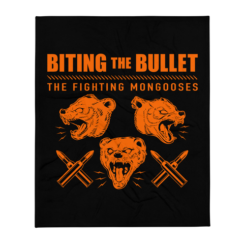 Fighting Mongooses Throw Blanket
