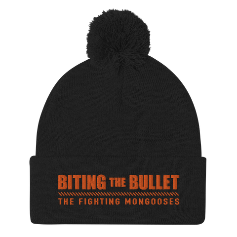 Biting the Bullet Pom-Pom Beanie
