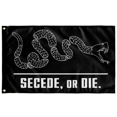 Secede, or Die Single Sided Wall Flag