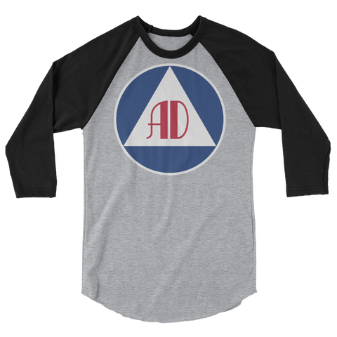 Anarchy Defense 3/4 sleeve raglan shirt