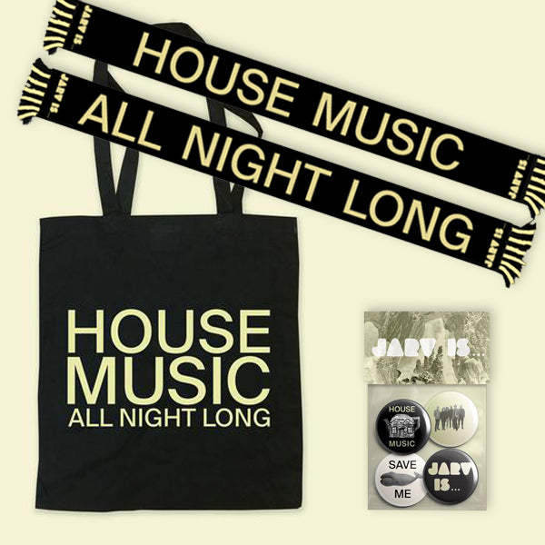 House Music Scarf + House Music Tote + Whale badge set