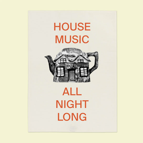 HOUSE MUSIC Tea Towel