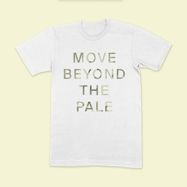 MOVE BEYOND Stone Wash White T-Shirt