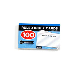3 by 5 Inch Ruled Index Card Sold in Bulk For School Supplies