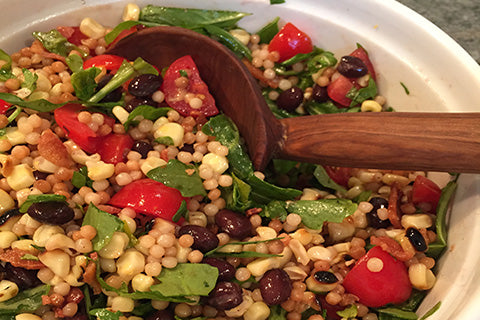 Israeli Couscous with Arugula, Cherry Tomatoes and more