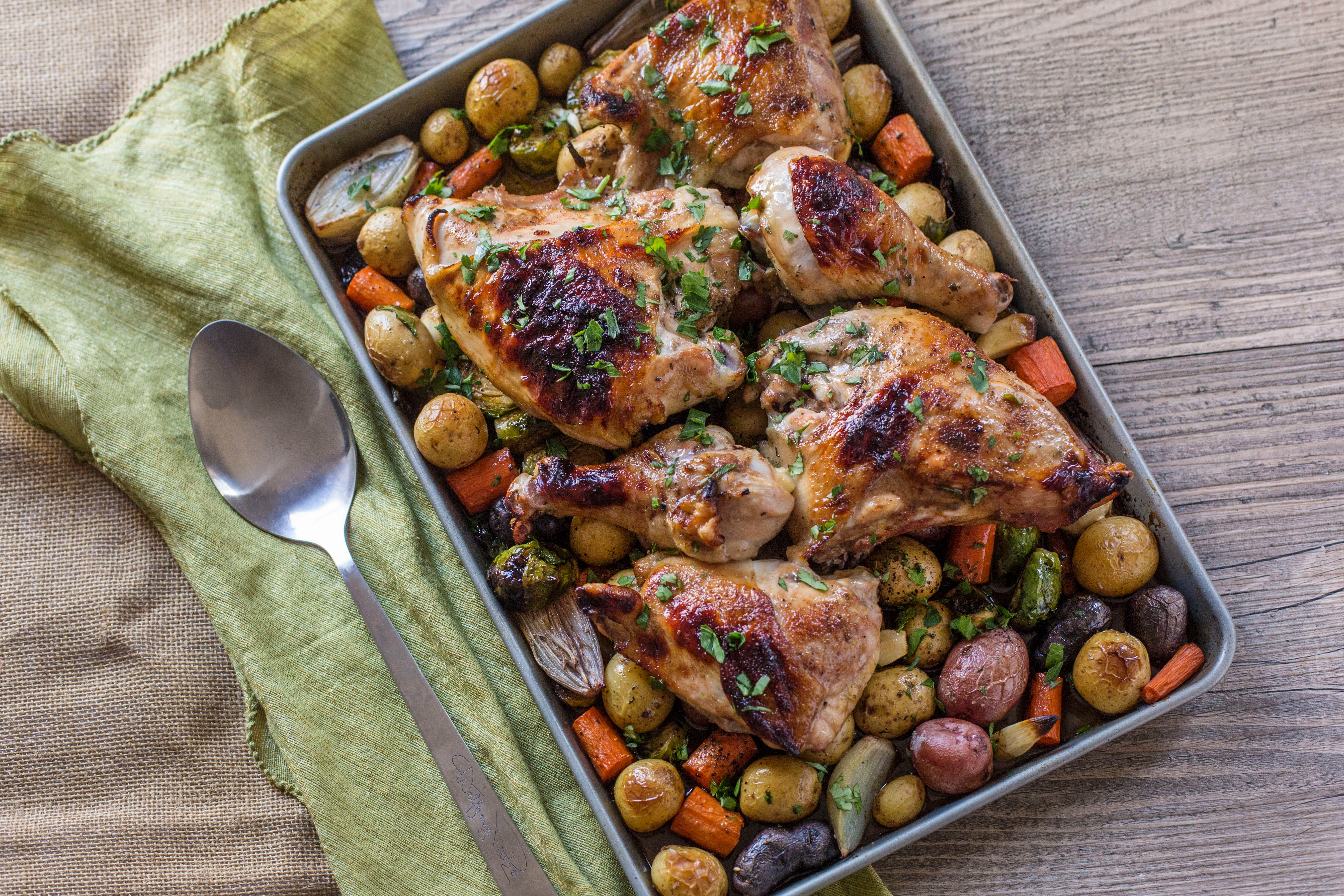 Sheet Pan Roasted Chicken & Vegetables
