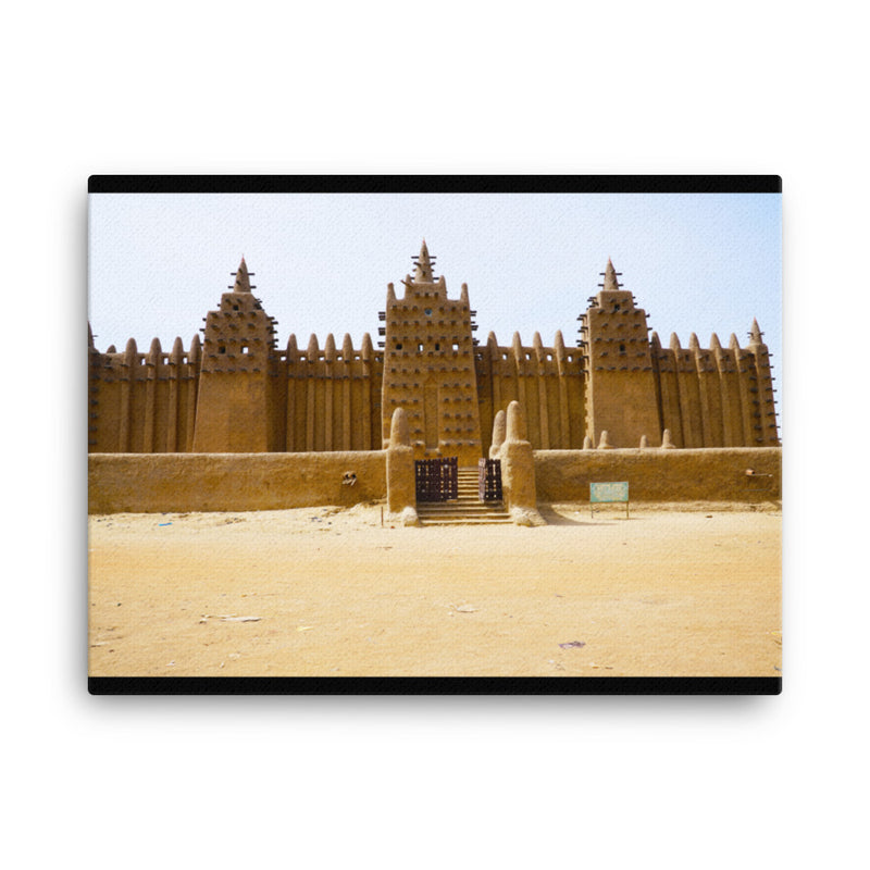 The Great Mosque of Djenne | On Canvas - 18x24