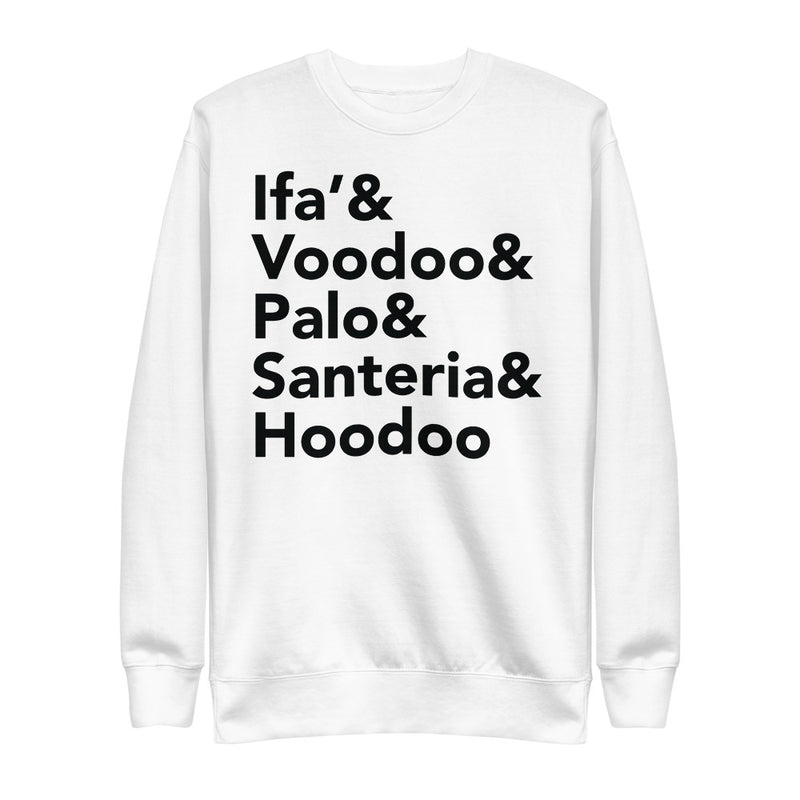 Ifa | On White - Unisex Fleece Pullover