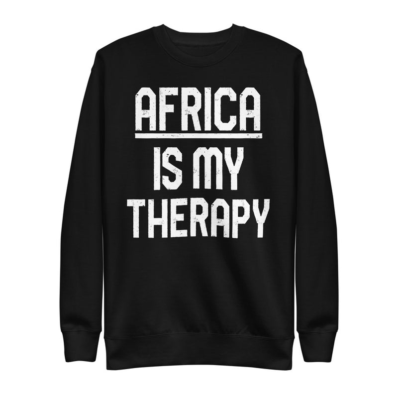 Africa is my Therapy | On Black - Unisex Fleece Pullover